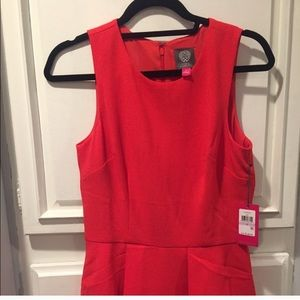 Brand new w/ tags Vince Camuto red peplum jumpsuit